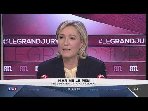 Marine Le Pen FN dans Le Grand Jury LCI, 11/12/16
