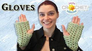 Lacy Fingerless Gloves Split Shell Stitch Crochet Pattern & Tutorial