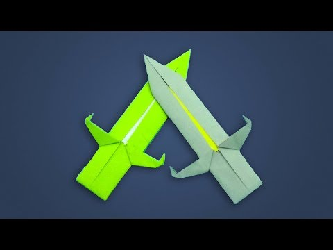 How To Make a Paper Toy Knife for Kids - DIY Paper Weapons Making - Origami Mini Sword