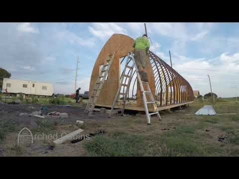 14'x40' Arched Cabin Time lapse