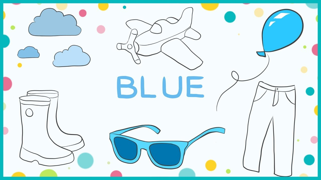 BLUE color color names coloring pages for kids LiLi YouTube