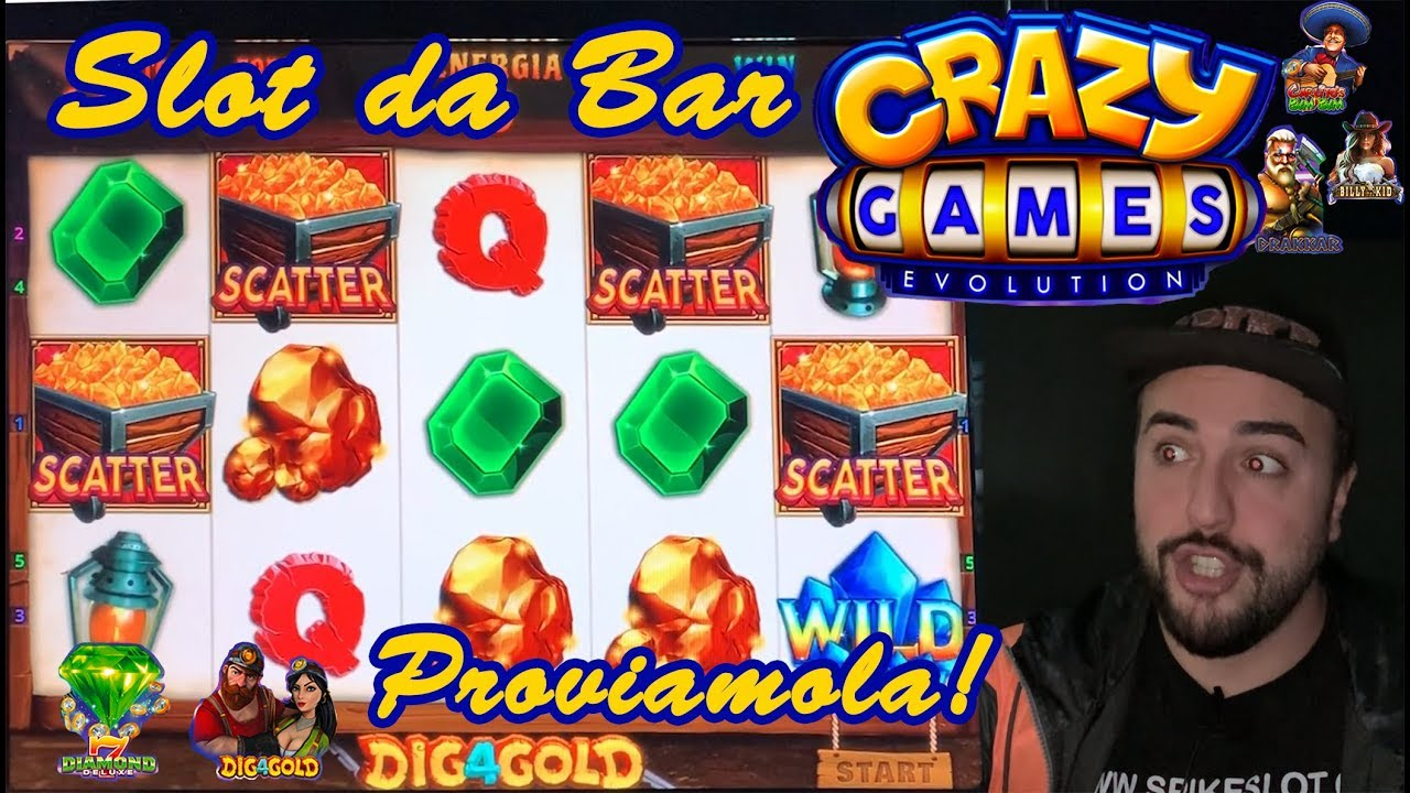 SLOT MACHINE da BAR - Proviamo la CRAZY GAMES EVOLUTION???? (Multigioco Cristaltec)