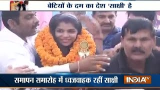 Haryana Welcomed Rio Olympics Bronze Medal Winner Sakshi Malik