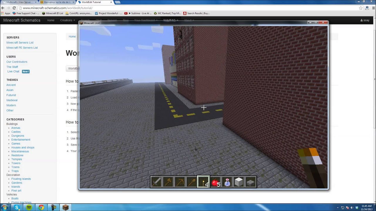 How to Install Schematics on a Minecraft Server (Multicraft)