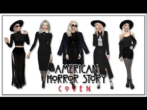 The Sims 4 // American Horror Story: Coven Inspired Lookbook + CC LINKS