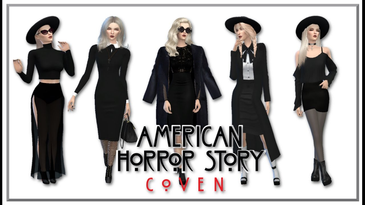 The Sims 4 American Horror Story Coven Inspired Lookbook Cc Links You