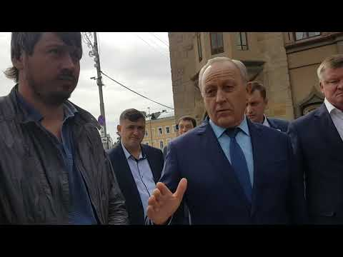 Губернатор на реконструкции проспекта Кирова. Критика подрядчика