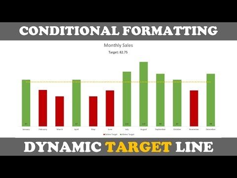 Excel Bar Chart With Conditional Formatting And Dynamic Target