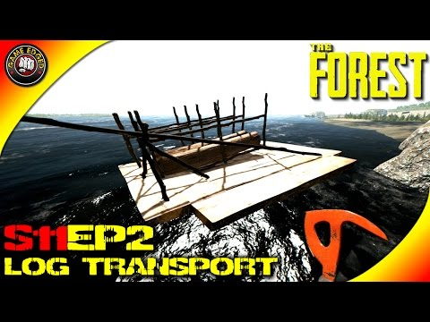 The Forest Gameplay - NEW Ocean Base, Log Transport Raft V0.29  S11EP2