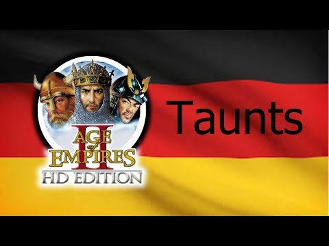 Age of Empires 2 - All Taunts (In German)