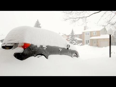 Time Lapse Digging Out During Record Snow Storm Ottawa Canada