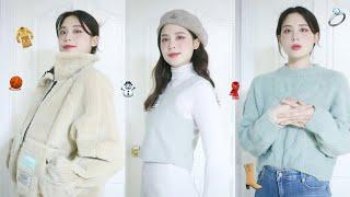 색감예쁜 겨울패션하울/니트,베스트,아우터,무스탕,핸드메…