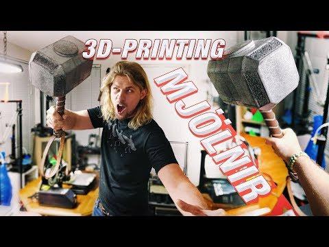 3D-PRINTING THOR'S HAMMER | Full Scale Mjölnir Replica