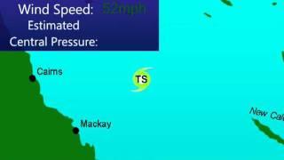 Tropical Cyclone Jasmine (2012), Animation