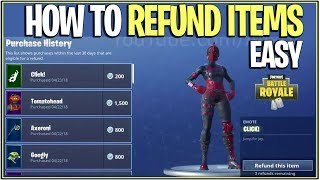 *NEW* Fortnite: HOW TO REFUND ANY ITEM! | (Refund Skins,Tools,and More!)