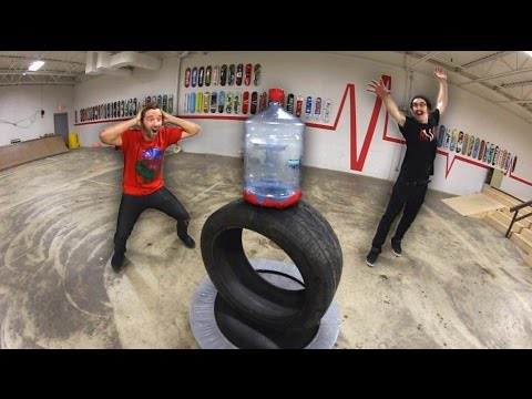 Thumbnail: Ultimate GIANT Bottle Flipping Trick Shots!