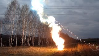 110 kV power line short circuit. Короткое замыкание ЛЭП - 110 кВ.