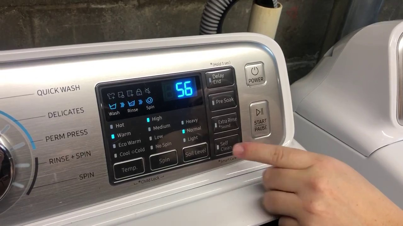 How To Use Self Clean On Your Samsung Washer Youtube