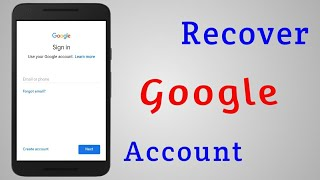 How to Recover Forgotten Google Account Password
