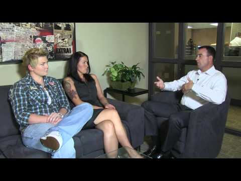 Allison Johnson and Kelsey Smith sit with Forum Editor Matt Von Pinnon