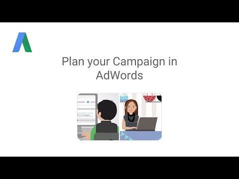Plan your Campaign in AdWords