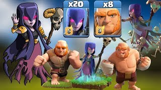 Mass Witch Slap 20 Witch+8 Giant Attack Strategy New CWL Attack 2019 Th12 3 Star Attack Town Hall 12