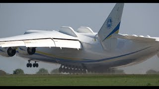 "4Kᵁᴴᴰ GIANT ANTONOV AN-225 ""Mriya"" - Amazing Takeoff & Demo of Maneuverability"