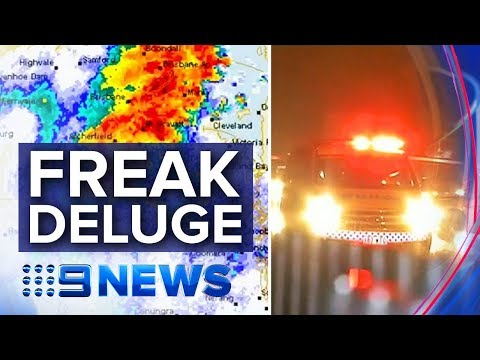 Flash Floods In Brisbane As Sudden Deluge Hits | Nine News Australia
