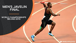 Men's Javelin Final | World Athletics Championships Beijing 2015
