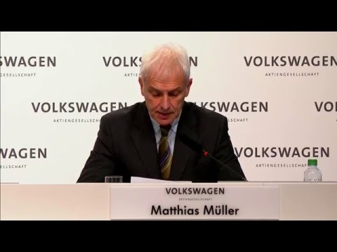 Dieselgate Volkswagen Press Conference Dec 2015 - Speech Matthias Müller, CEO of Volkswagen AG (ENG)