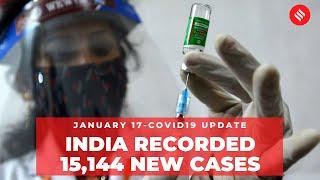 Coronavirus on January 17,  India recorded 15,144 new Covid-19 cases,