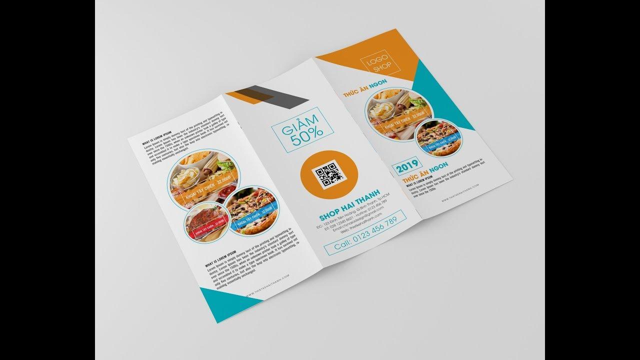 Haithanh design | Hướng dẫn thiết kế tờ gấp 3 bằng Photoshop [Mặt ngoài] Part 1