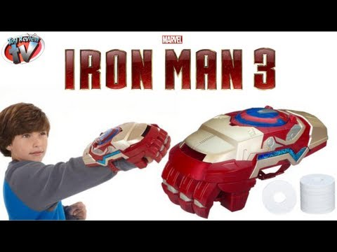 Marvel Iron Man 3 Nerf Motorized Arc FX Gauntlet Toy Weapon Review, Hasbro