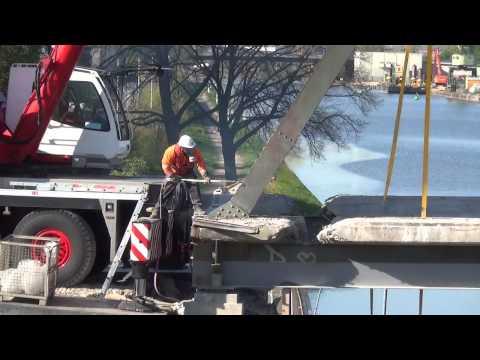 Brückenabriss - Dortmund Ems Kanal Bau