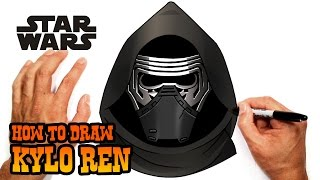How to Draw Kylo Ren (Star Wars Ep.7)- Step by Step Lesson