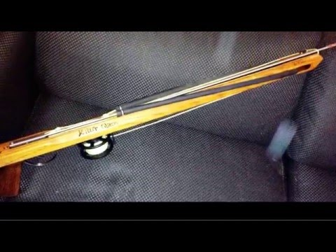 Homemade spearfishing gun