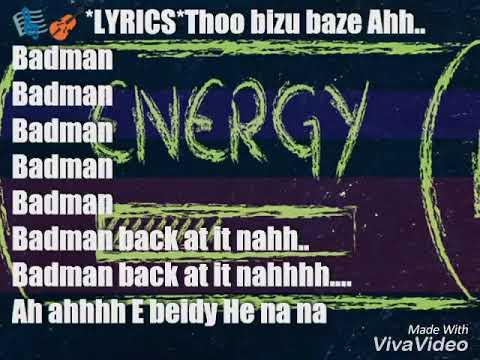 BADMAN BINLADIN - ENERGY LYRICAL VIDEO (NEW SONG VIDEO)