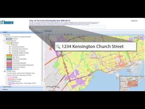 City of Toronto Interactive Zoning By-law Map