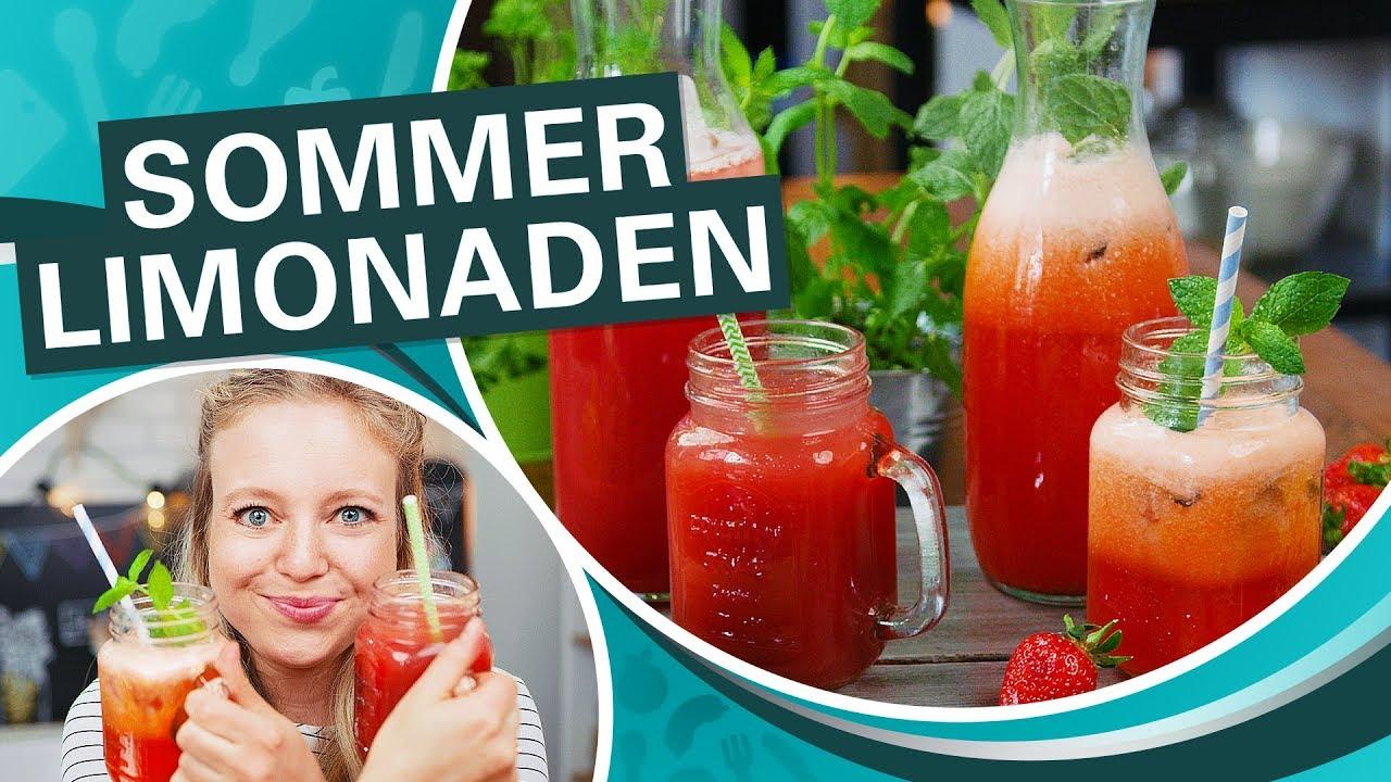 Sommergetränke selber machen - lecker und erfrischend ☀ 🍓 - YouTube