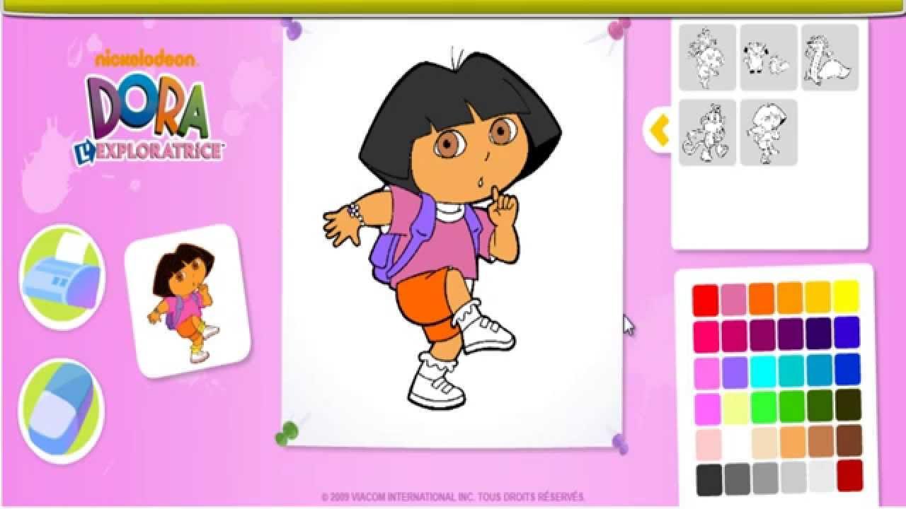 Dora l 39 xploratrice coloriage en ligne dora jeu en - Jeux dora l exploratrice gratuit ...