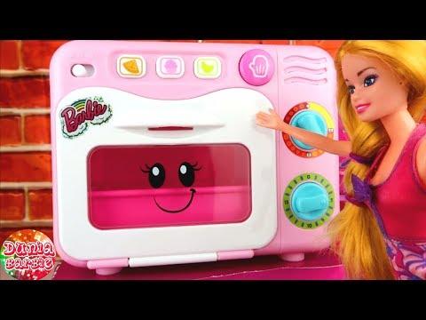 Mainan Masak Masakan Barbie Membuat Kue Buat Ken Barbie Beli Oven Baru Youtube