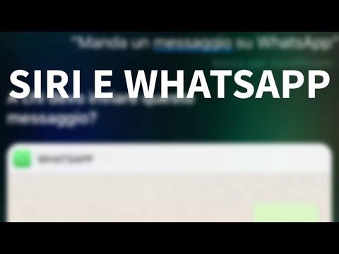 Come inviare messaggi su WhatsApp usando Siri