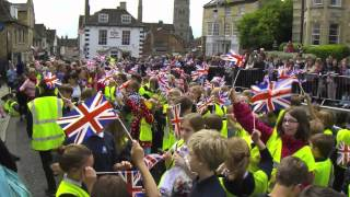Queen Elizabeth II dramatic visit to Stamford, Lincolnshire Thumbnail