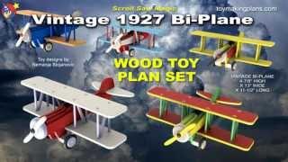 Wood Toy Plans - Vintage 1927 Bi-plane