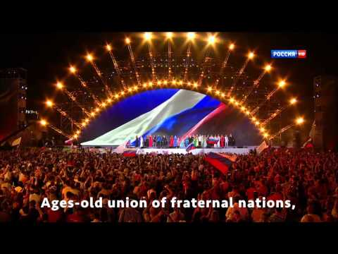 Anthem of Russia, Crimea 2015 [Eng Sub]