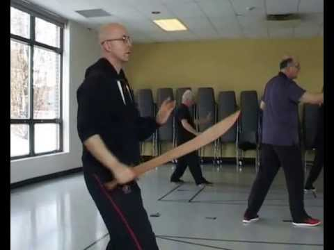 DAVID DEBELLE   leading TAI CHI SABRE set Montreal March 2013