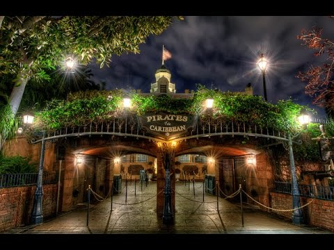 [4k] Pirates of the Caribbean ride (Amazing Low Light) Disneyland park Ride Through POV