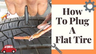 Learn How To PLug Your Car Tire At Home - Remove Nail & Screws