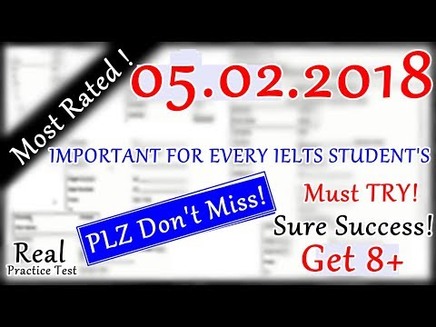 IELTS LISTENING PRACTICE TEST 2018 WITH ANSWERS | 05.02.2018