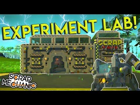 SCRAPYARD LAB & PISTON WALKERS! - Scrap Mechanic Creations Gameplay
